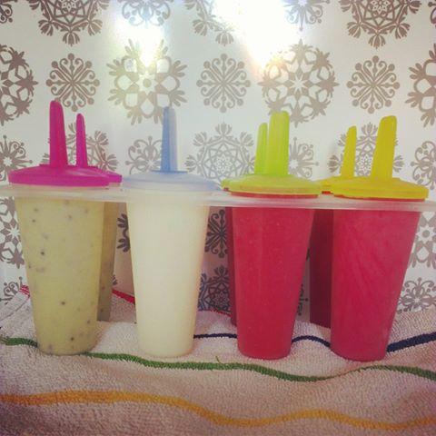 Fruitige yoghurtijsjes (en een waterijsje)