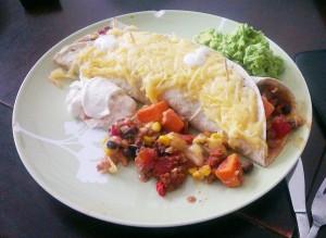 Overheerlijke veggie burrito
