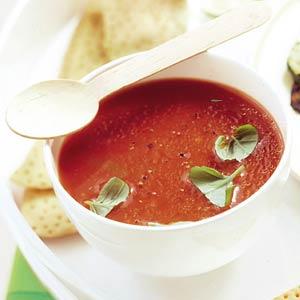 Licht pittige tomatensoep